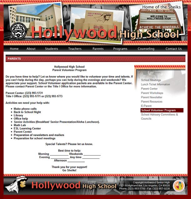 Hollywood Senior High - Home of the Sheiks and loadsamoney