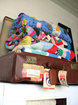Handmade Quilts in an Old Suitcase