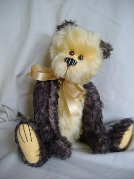 An old friend of mine!  One of my first mohair bears!