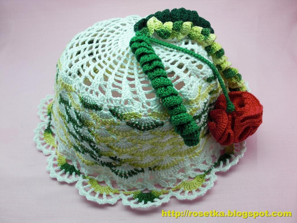 Описание: Вязаная панамка Вязание спицами.