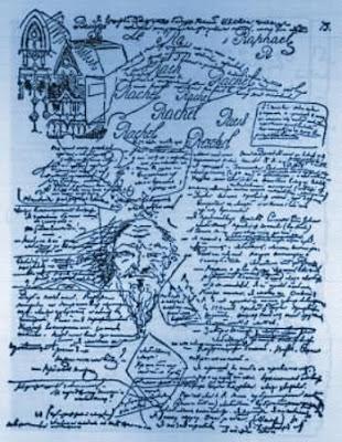 Original - Manuskriptseite aus Dostojewskis DÄMONEN
