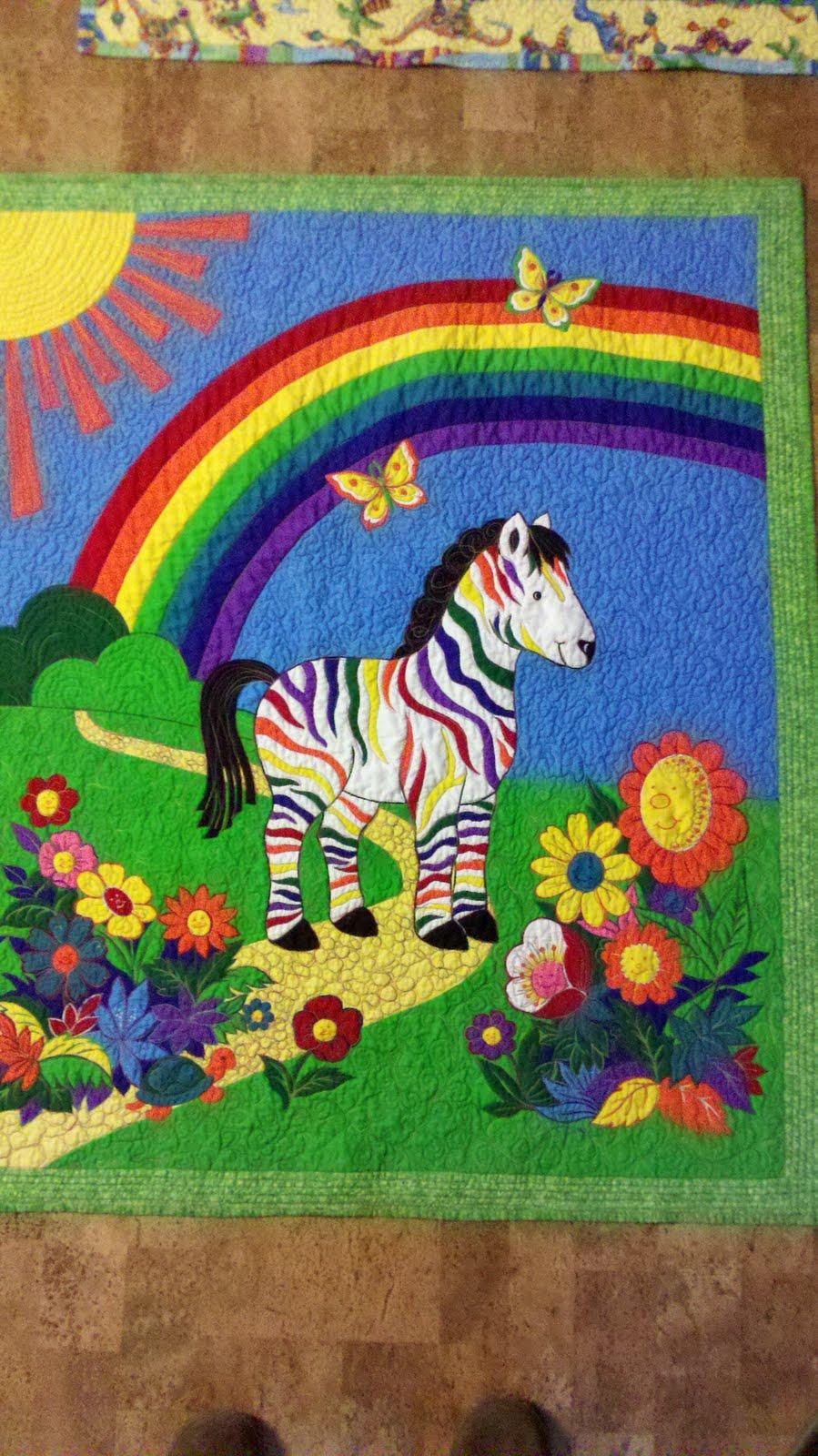 Sew-Much-Better: Rainbow zebra quilt