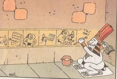 Bunu yazan tosun okuyana kosun taş devri tuvalet sapığı mısırlılar karikatür tik tok tuvalet yazıları tarihsel espri siyasi karikatür mısırlılar firavun piramitler karikatür penguen uykusuz dergi karikatür dünyası karikatürya erdil yaşaroğlu yiğit özgür