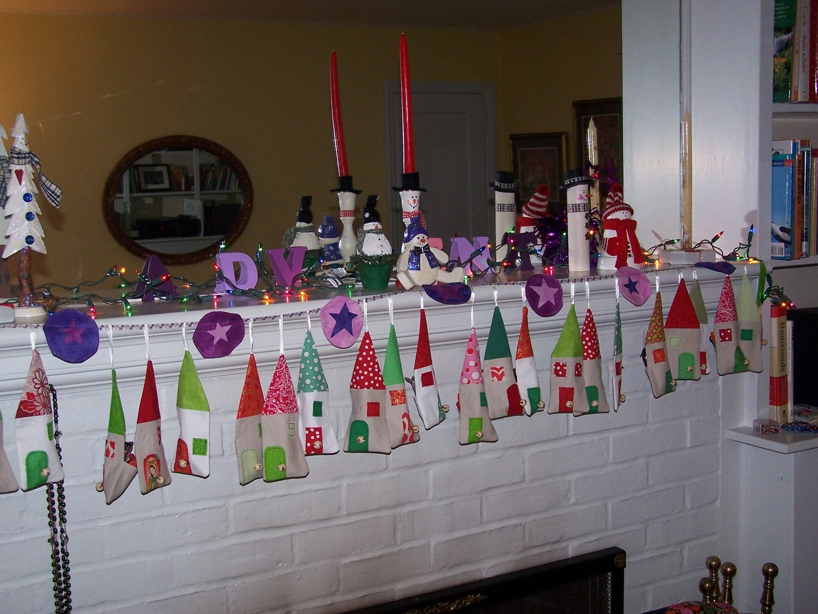 Simplysewn advent decorations for Advent decoration ideas