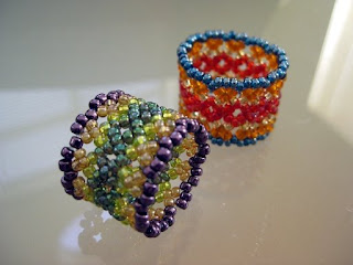 how to make a beaded phoenix ring