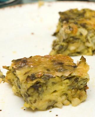 recettes  Carrés aux épinards