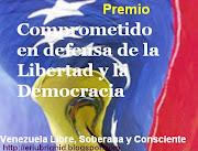 Premio: Comprometido en defensa de la Libertad y la democracia.
