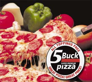 observations about nothing 5 buck pizza restaurant review. Black Bedroom Furniture Sets. Home Design Ideas