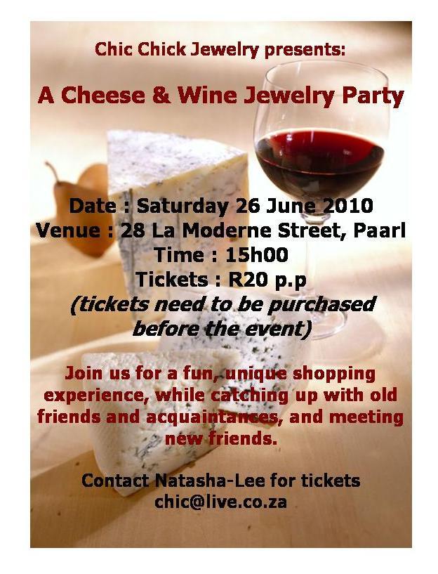 Chic Chick Jewelry: Cheese & Wine Jewelry Party