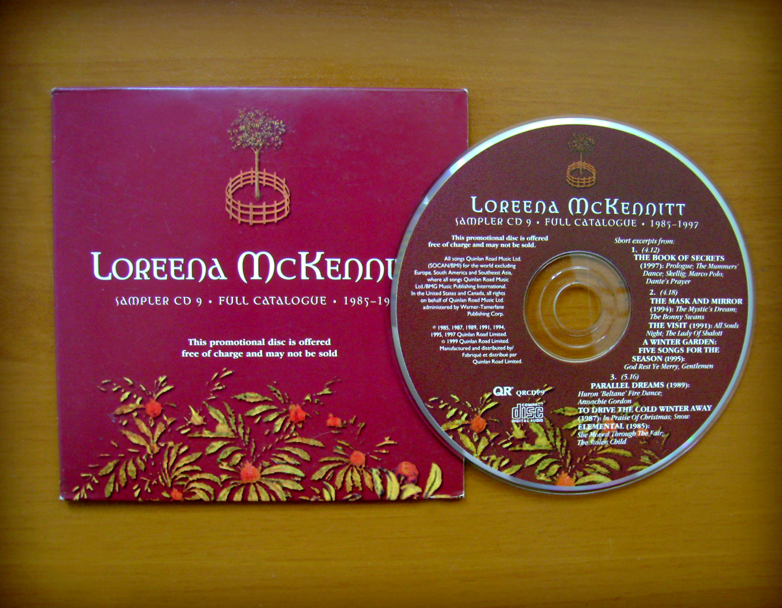 loreena mckennitt collection 1999 u2013 sampler cd 9 full catalogue