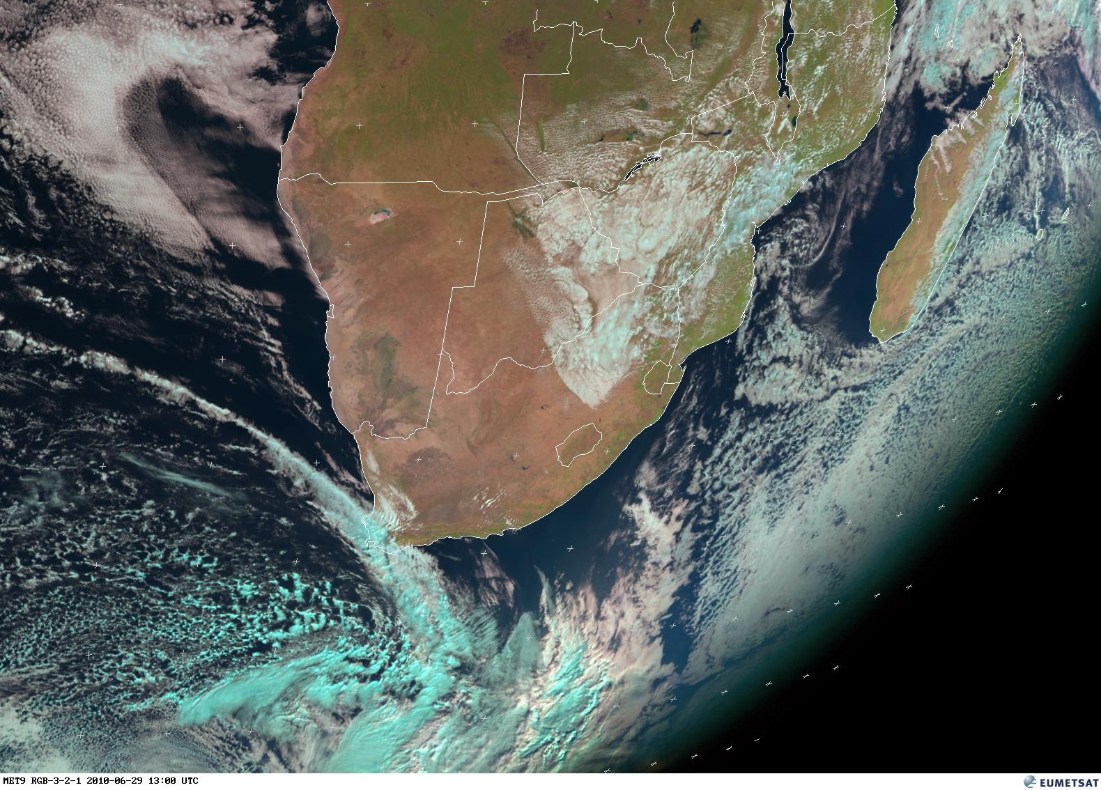 SA Weather And Disaster Information Service South Africa SA - World satellite view of weather
