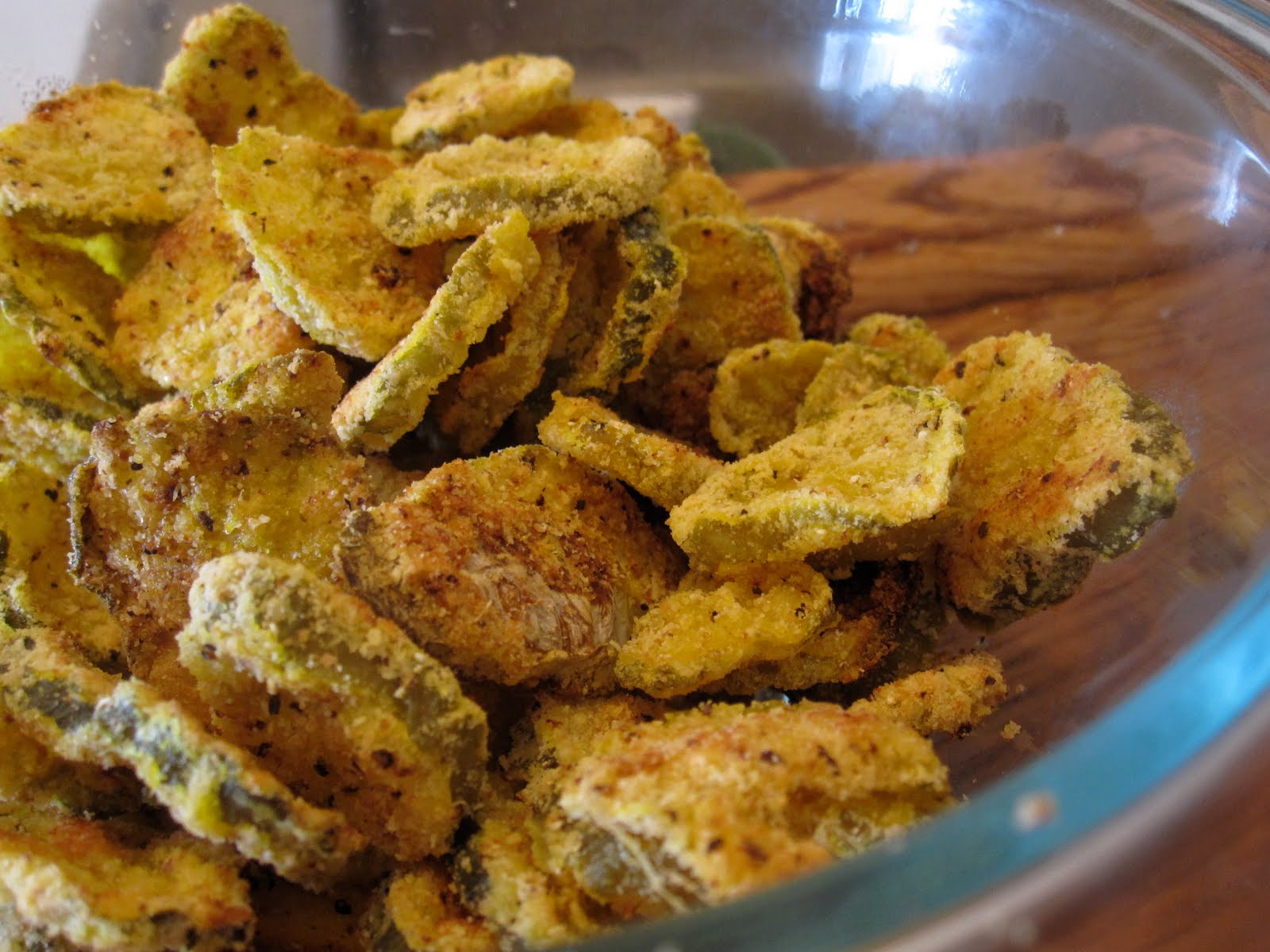Just Putzing Around the Kitchen: Oven-Fried Pickles