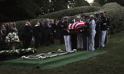 Sen. Edward Kennedy laid to rest at Arlington National Cemetery.