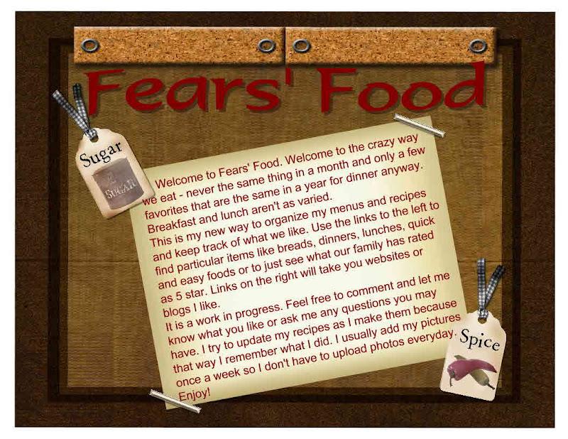 Fears' Food