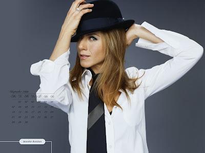 Jennifer Aniston calendar 2009