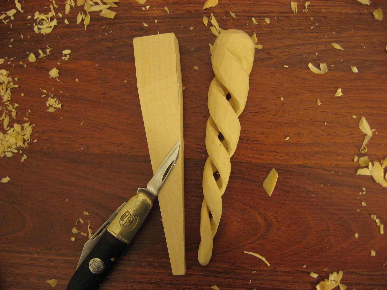 carverswoodshop: SPIRAL ICICLE ORNAMENT our woodcarving ...