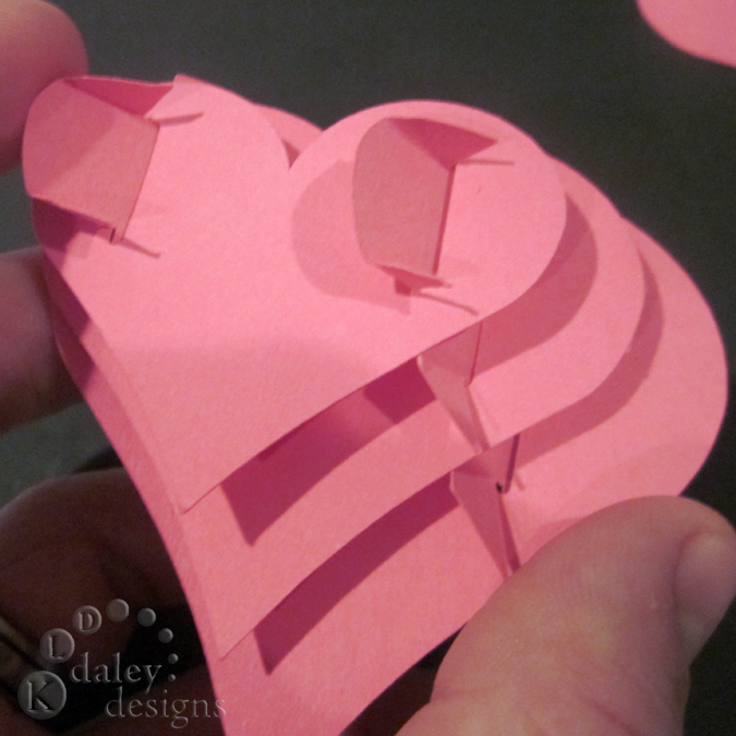 3 Under And More 3D Folding Heart