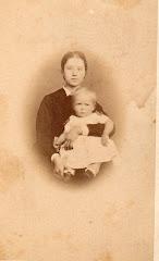Nina Erikka Holten med Carl V. Lange ca.1872