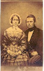 Carl August R. Schack og Anna Catharina Christensens bryllupsbillede fra 1845