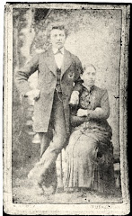 5.015.Jens Clausen Rasmussen (1837-1902), her i selskab med sin 1.kone i 1857