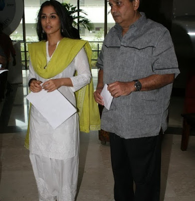 Vidya Balan at Whistling Woods International