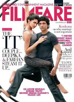 Farhan Akhtar & Deepika Padukone on Filmfare Magazine