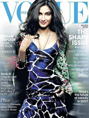 Sonam Kapoor on the Cover of Vogue magazine