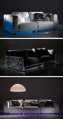 Innovative LED Lighted Sofa by Colico
