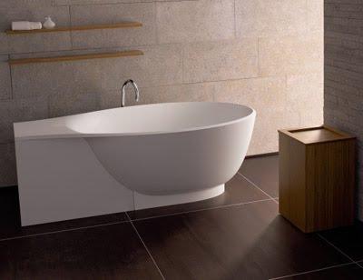Modern Oval Bathroom Sink and Bathtub by Burg