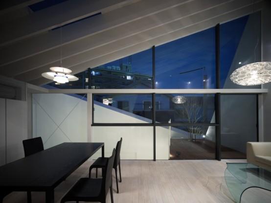 Minimalist japanese wrap house by future studio art for Japanese minimalist house interior