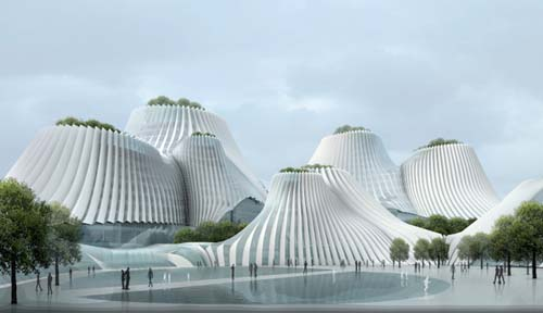 Architecture Design of Taichung Convention Center by MAD Architects