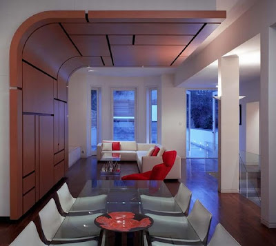 Interior-Decorating-with-Curved-Leather-by-Belsize-Architects