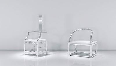 Metallic Fu Quan Jing Yun Chairs Design by Oil Monkey