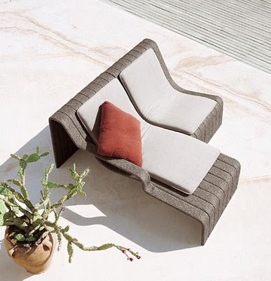 Elegant Outdoor Chaise Lounge Frame by Paola Lenti