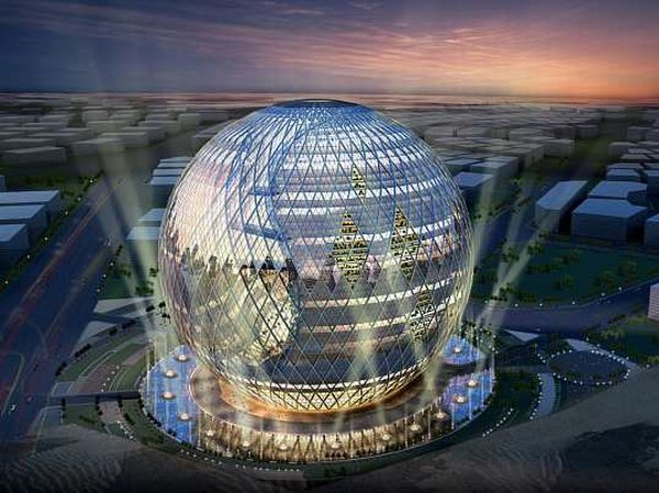 Architectural Design of Technosphere in Dubai by James Law Cybertecture