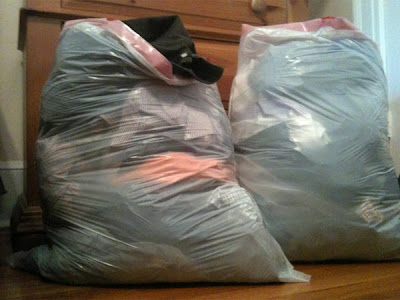 Here's half the clothes I threw away.