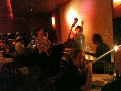 Jazz is played at Blue Water Grill