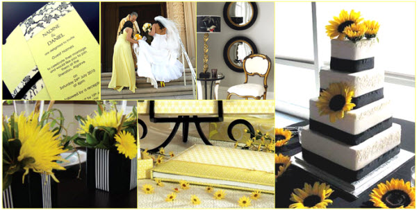Fun yellow themed wedding taken by the amazing Geoff White note the