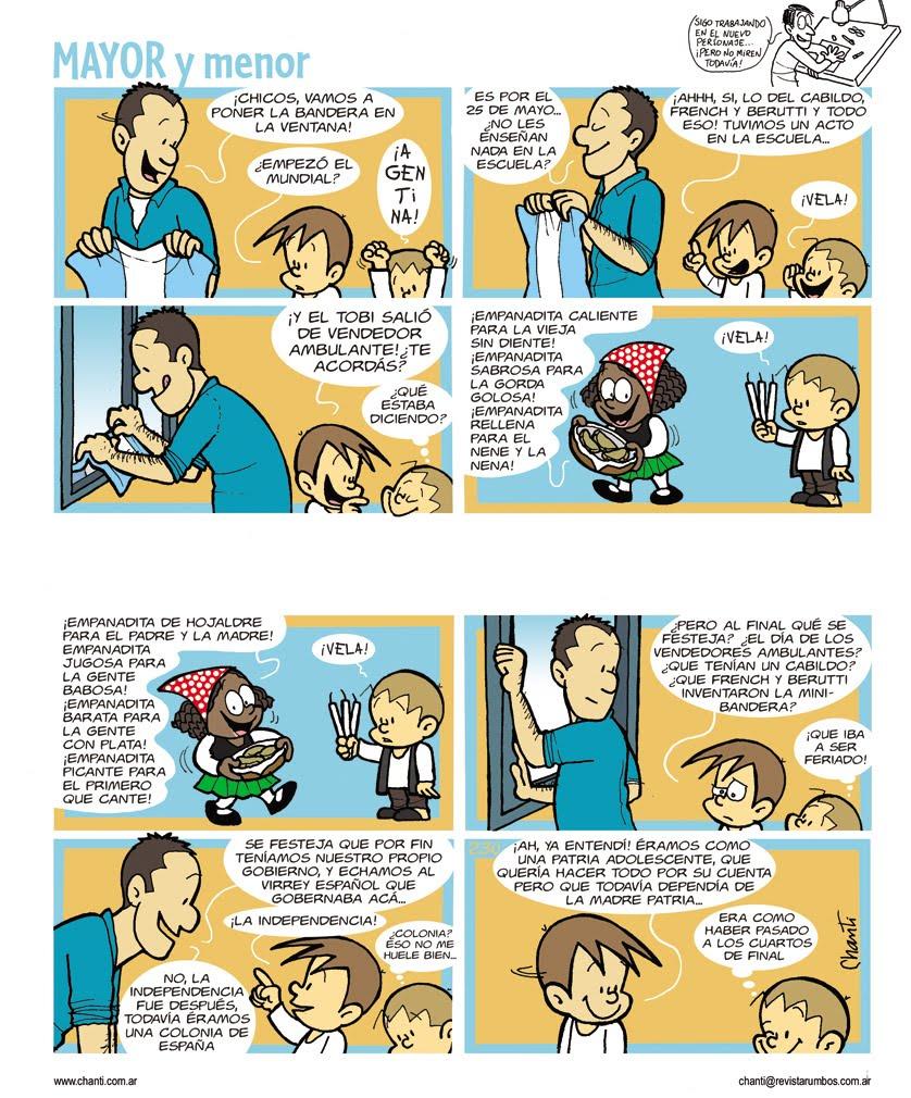 ... esta historieta de Mayor y menor que salió hace unos años atrás