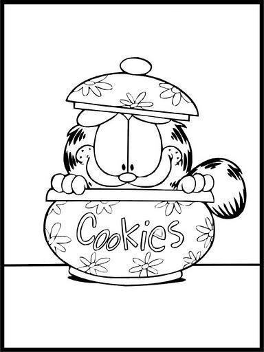 Dibujos para colorear: Dibujos para colorear - Garfield en el bote ...