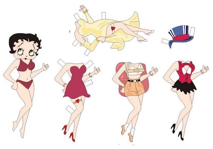 Muñecas para recortar: Betty Boop para recortar