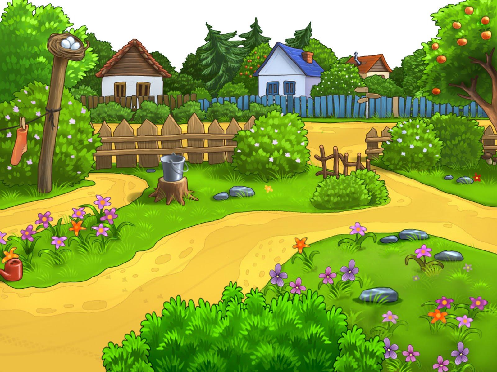 Fonditos de paisajes psd infantiles imagui for Jardin dibujo