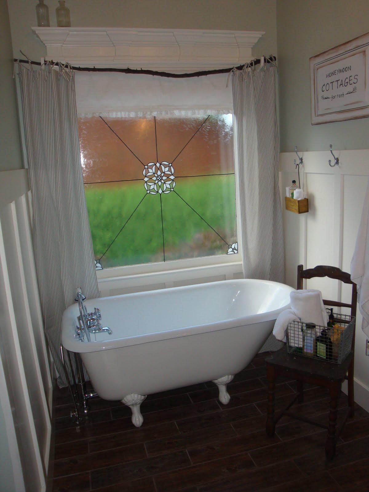 A little piece of heaven master bathroom curtains check for Master bathroom curtains