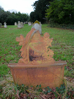 Victorian grave marker cast iron