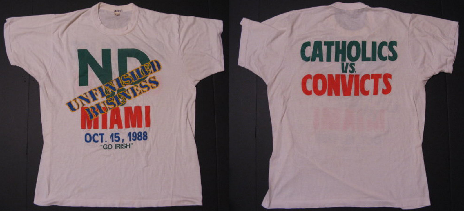 Who Designed The Catholic Vs Convicts T Shirt
