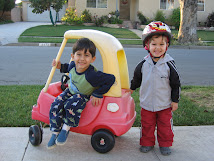 Jack and Ben driving their car