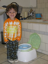 Benjamin SO proud after using the potty chair for the first time!