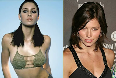 best celebrity hairstyles Jessica Biel brunette long and short bob hairstyles