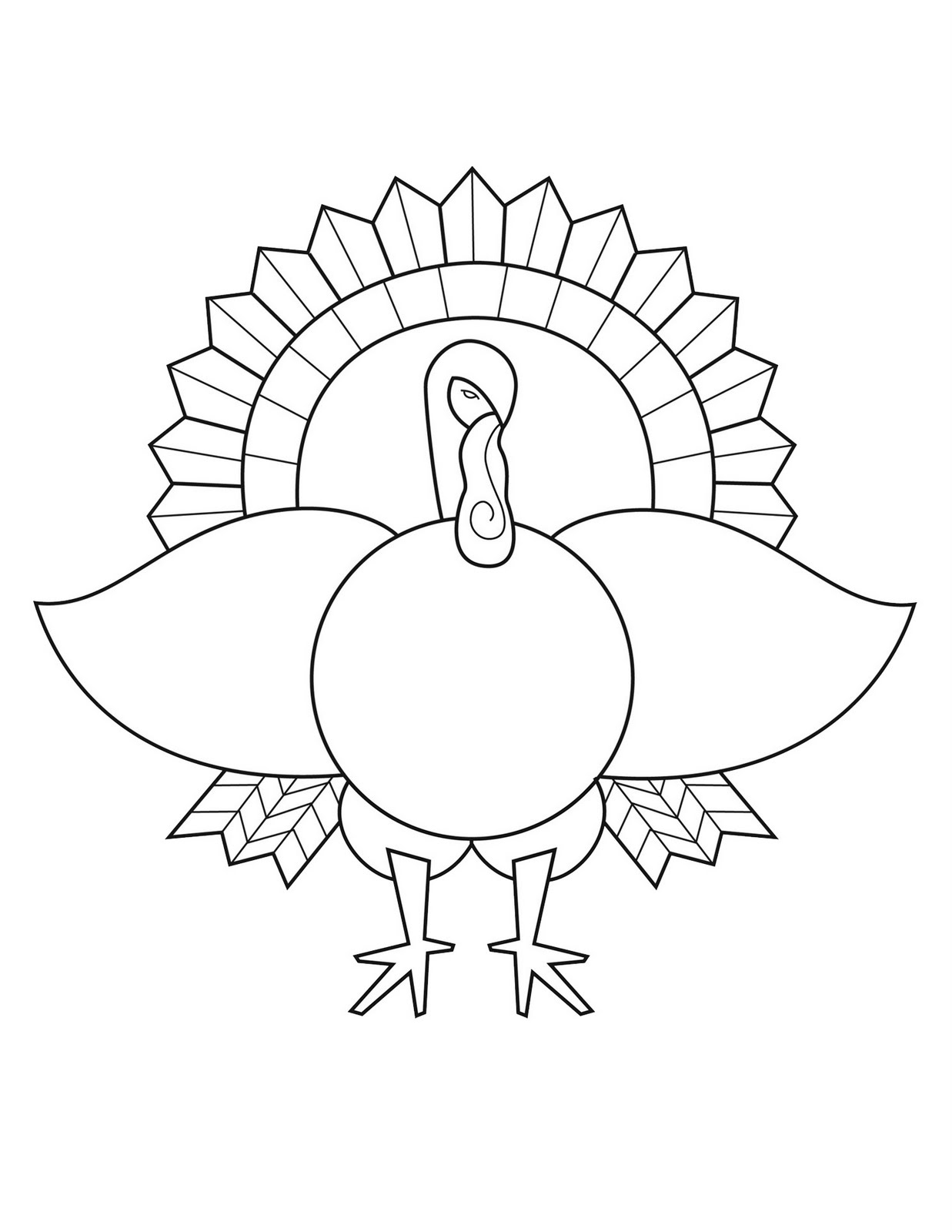 Turkey Coloring Page | Art Projects for Kids