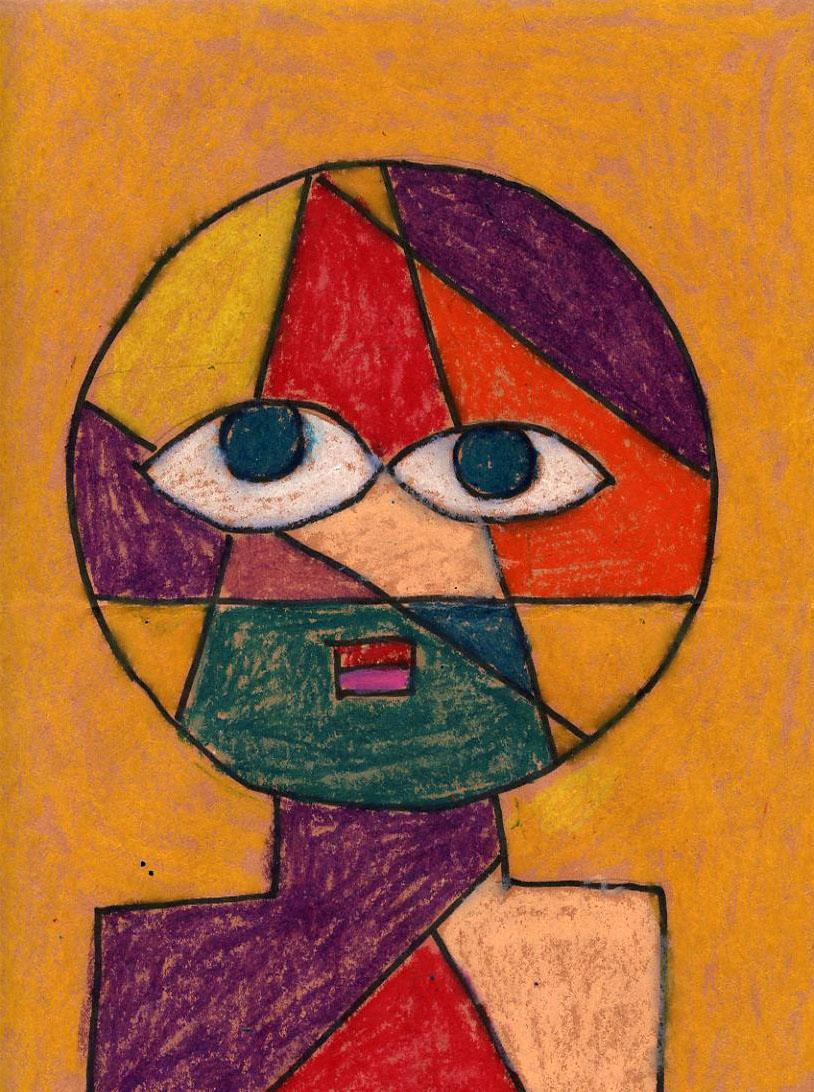 oil pastel klee portrait art projects for kids